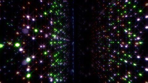 LED Light Space Hex 4p A 2 HD Stock Video Footage