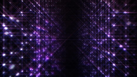 LED Light Space Hex 4p A 4 HD Stock Video Footage
