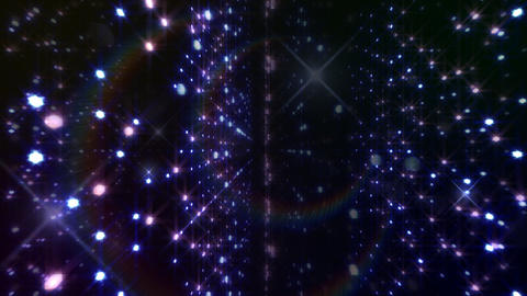 LED Light Space Hex 4p B 2f HD Stock Video Footage