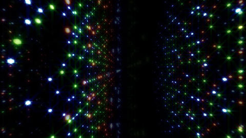 LED Light Space Hex 4p C 2 HD Stock Video Footage