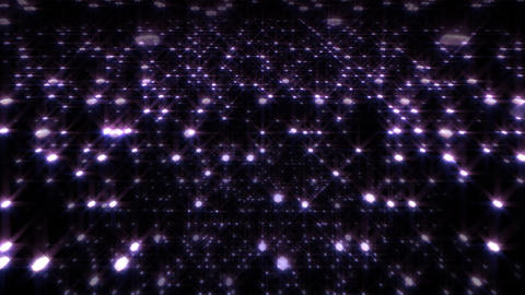 LED Light Space Hex 4q A HD Stock Video Footage