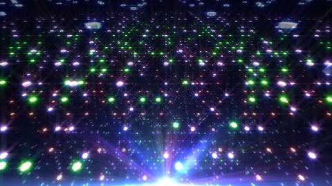 LED Light Space Hex 4q A 2v HD Stock Video Footage