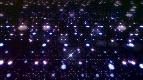 LED Light Space Hex 4q B 2f HD Stock Video Footage