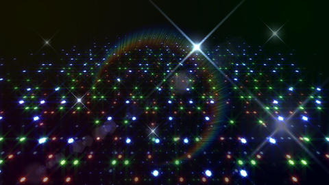 LED Light Space Hex 4t C 2f HD Stock Video Footage