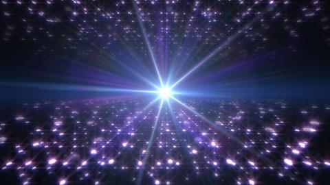 LED Light Space Hex 4u Av HD Stock Video Footage