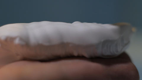 shaving cream hand close up Stock Video Footage