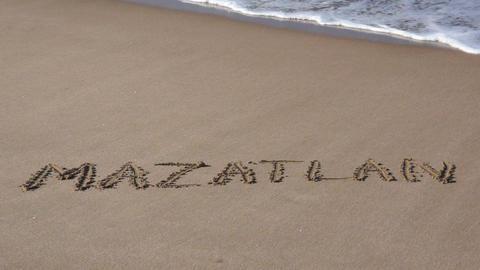 Sunny Beach Vacation in Mazatlan Mexico Stock Video Footage