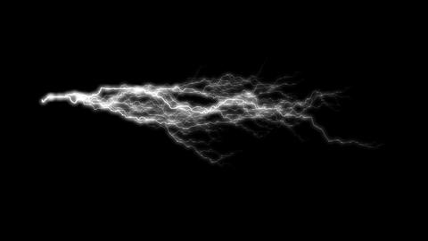 HD Loopalbe Thunder Animation with Alpha Channel Stock Video Footage