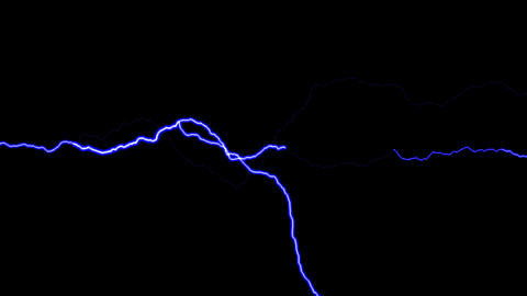 HD Loopalbe Thunder Animation - Blue Animation
