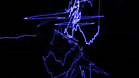 HD Loopalbe Thunder Animation - Blue Stock Video Footage