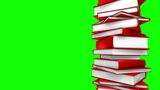 Red Books Stack (Loop on GreenScreen) Animation