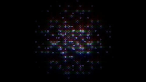 LED Light Space Hex 4i C HD Stock Video Footage