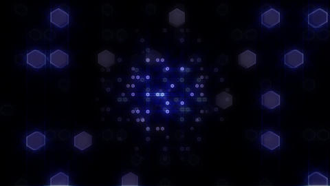 LED Light Space Hex 4 L E HD Stock Video Footage