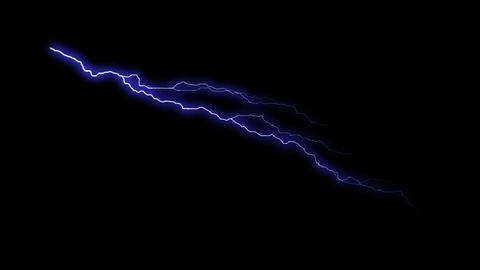 HD Thunder Animation - Blue Stock Video Footage