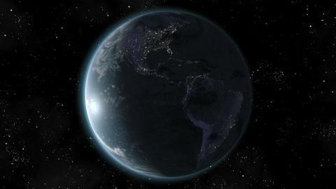 Earth (High End) Orbiting Day Night Lights. Loop. CGI HD Stock Video Footage