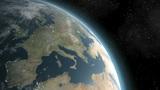 Earth (Highend) Sunrise Over Europe CGI HD Animation
