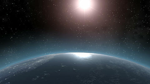 Earth (Highend) Sunrise Horizon Over MIddle America CGI HD Stock Video Footage