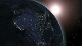 Earth (Highend) Sunrise Over North America CGI HD Animation