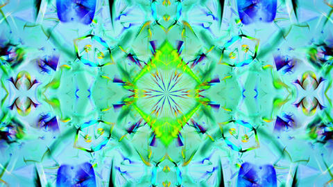Kaleidoscope 3 - Ornamental Colorful Kaleidoscopic Video... Stock Video Footage