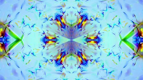 Kaleidoscope 3 - Ornamental Colorful Kaleidoscopic Video... Stock Video Footage
