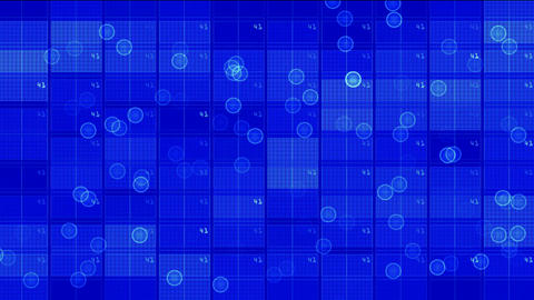 virtual computer data software & electric circuit mosaics board,tech power l Animation