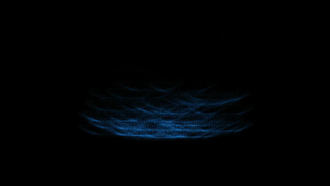 rolling waves energy lines Animation