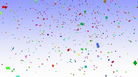Falling Confetti Animation Stock Video Footage