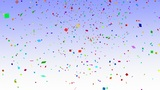 Falling Confetti Animation stock footage