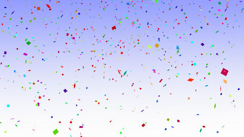 Falling Confetti Animation Stock Video Footage