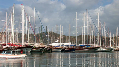 boats fethie 1 Stock Video Footage