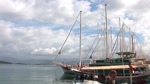 boats fethie 3 Stock Video Footage
