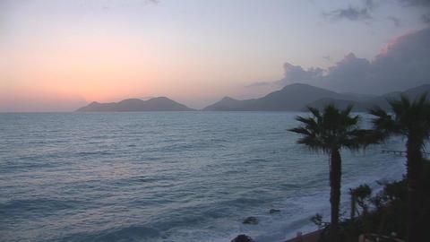 sunset warm 4 Stock Video Footage