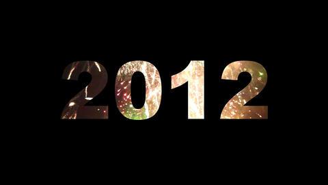 2012 fireworks 01 Stock Video Footage