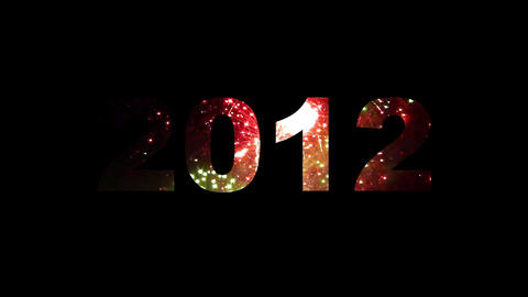 2012 fireworks 01 Stock Video Footage