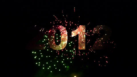 2012 fireworks 03 Stock Video Footage