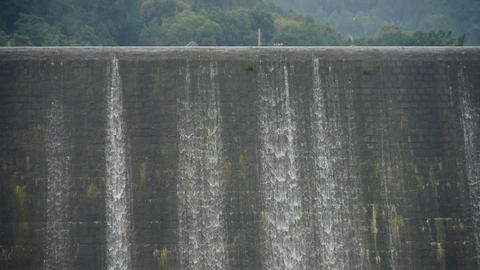 overflow dam,Waterfall texture,rainy season Stock Video Footage