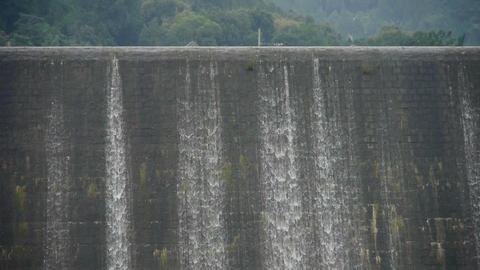 overflow dam,Waterfall texture,rainy season Stock Video Footage