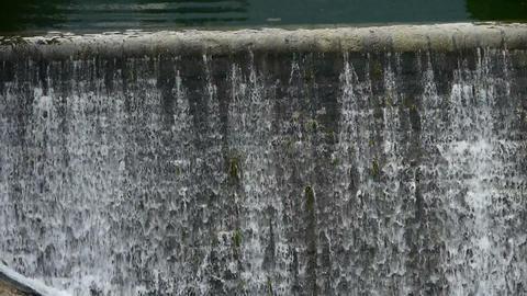 Waterfall texture,overflow dam,rainy season Stock Video Footage