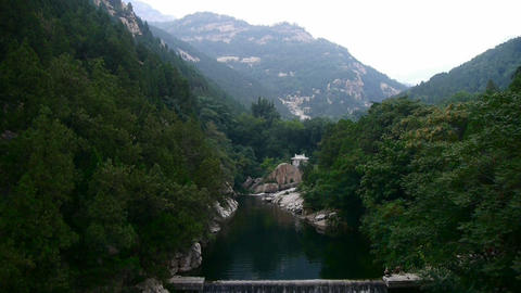 Dams in the mountains,full of lake water Stock Video Footage