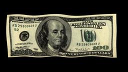 FLOATING DOLLARS Stock Video Footage