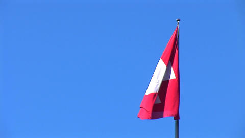 flag suisse 2 Stock Video Footage