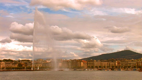 fountain geneva 1 Stock Video Footage