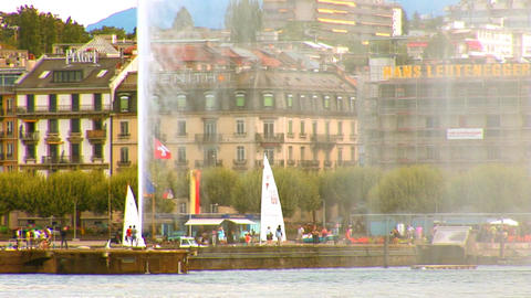 fountain geneva 5 Stock Video Footage