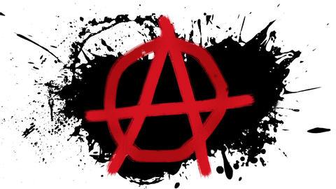 Anarchy paint splash Stock Video Footage
