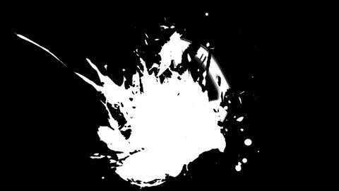 Anarchy paint splash Stock Video Footage