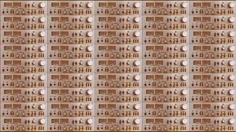 amplifier wall 02 B Stock Video Footage