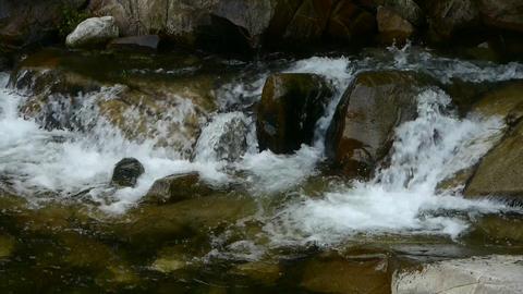 Mountain waterfall stream Stock Video Footage