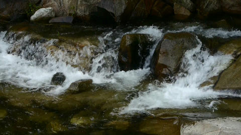 Mountain waterfall stream Footage