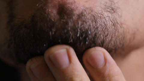 man shaves close up Stock Video Footage