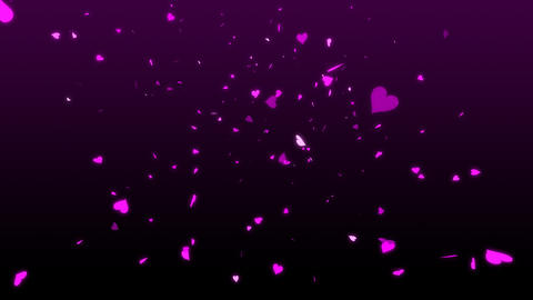 HD Looping Falling Hearts Animation for your Wedding Video Stock Video Footage